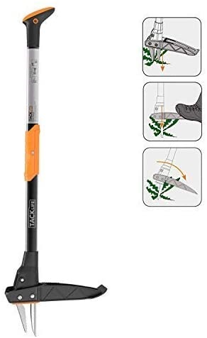 TACKLIFE Weeder, 39-Inch Stand Up Weeder, Heavy Duty Thickened 3-claw Stainless Steel