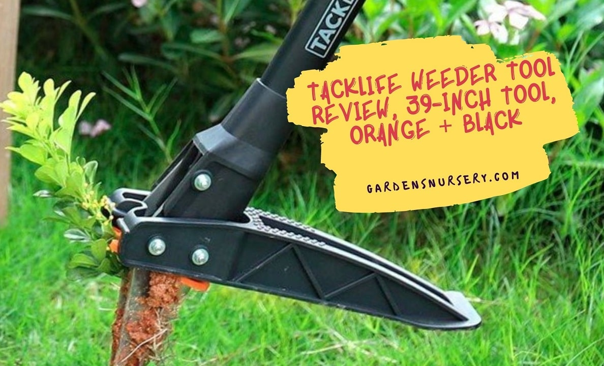 TACKLIFE Weeder Tool Review, 39-Inch Tool, Orange + Black