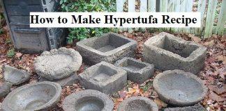 How to Make Hypertufa Recipe