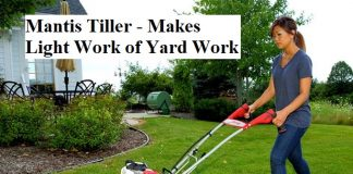 Mantis Tiller - Makes Light Work of Yard Work