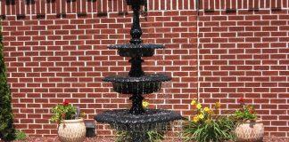 Backyard Fountain Makes A Stunning Centerpiece