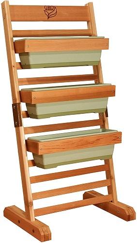 GRO Products CGS-2048-LG Color Vertical Garden Cedar Planter