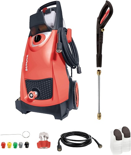 RED Electric Pressure Washer Sun Joe SPX3000-RED 2030 Max Psi 1.76 Gpm 14.5-Amp