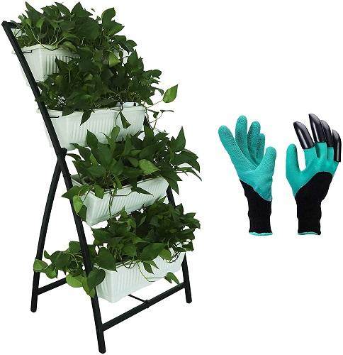 Semblis Vertical Planter Raised Garden Bed with Extra Gardening Gloves