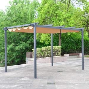 Aluminum Outdoor Retractable Canopy Pergola