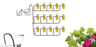 Automatically water houseplants - Indoor Drip Irrigation Kit