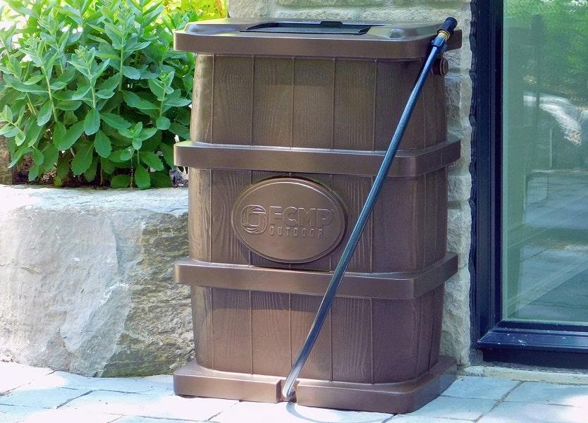 FCMP Outdoor Rain Barrel Woodgrain Review
