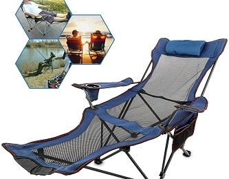 Folding Camp Chairs with Footrest