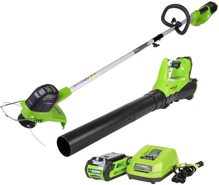 Superior Lawn Grooming With Ryobi String Trimmer and Leaf Blower Combo Pack