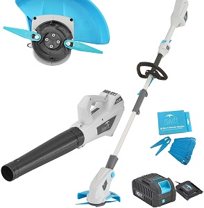 Swift 40V Cordless Double Blade Grass Trimmer And Leaf Blower