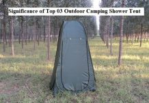 Significance of Top 03 Outdoor Camping Shower Tent