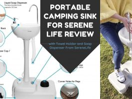 Portable Camping Sink for Serene Life Review