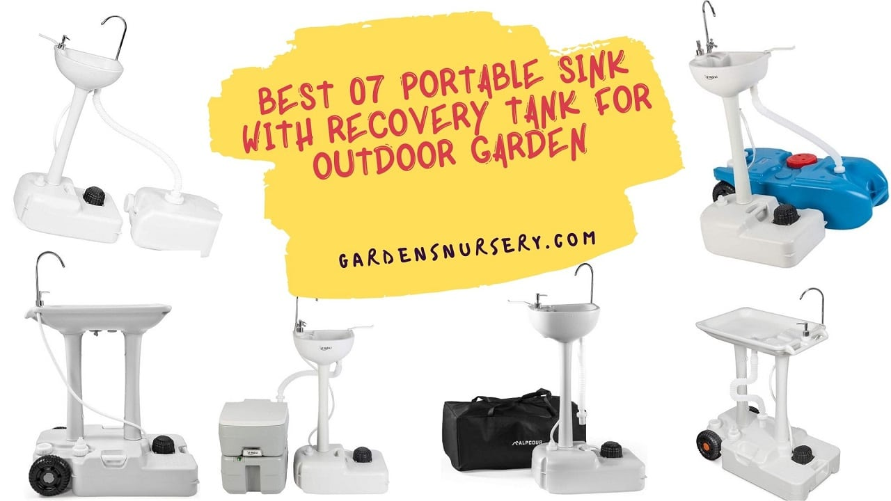 Best 07 Portable Sink With Recovery Tank For Outdoor Garden