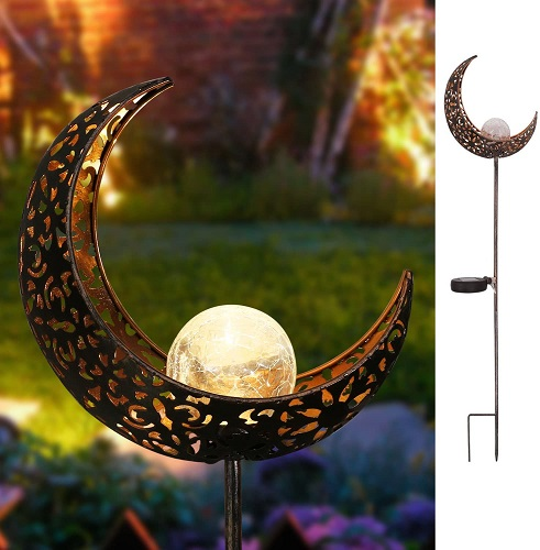 Glass Globe Stake Metal Lights