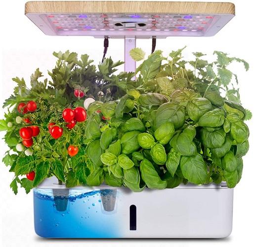 Indoor Herb Garden Starter Kit Wled Grow Light