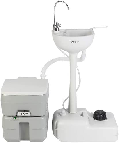 Vingli Upgraded Portable Sink And Toilet Combo