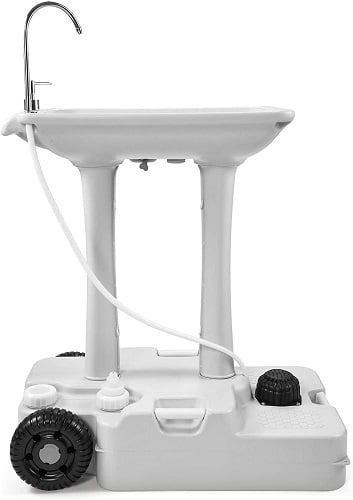 Yitahome Portable Camping Sink With Rolling Wheels