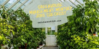 Greenhouse Management Monthly Jobs Checklist