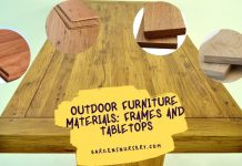 Outdoor Furniture Materials Frames and Tabletops