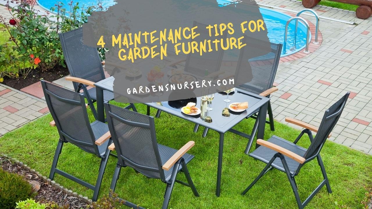 4 Maintenance Tips For Garden Furniture