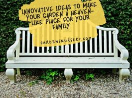 Innovative Ideas To Make Your Garden A Heaven-like Place For Your Family