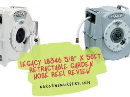 "Legacy L8346 58"" x 50ft Retractable Garden Hose Reel"