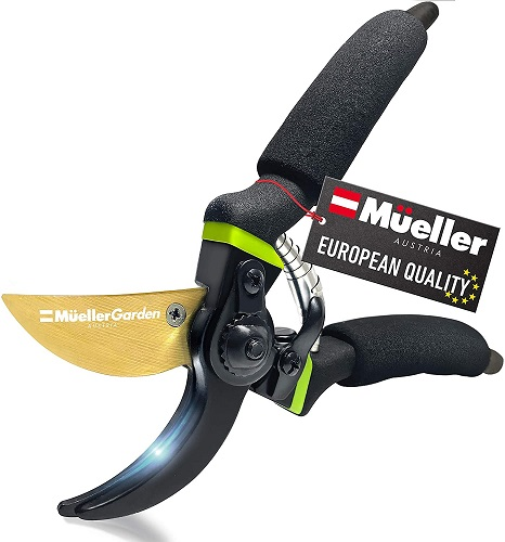 Mueller Soft Grip Garden Pruning Shears