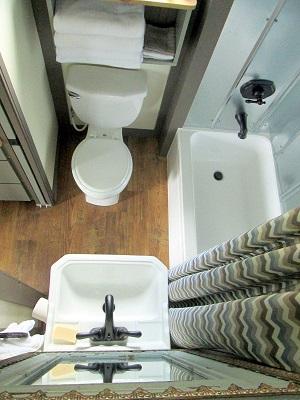 Backyard Bunkie's Tiny Bathroom