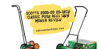 Scotts 2000-20 20-Inch Classic Push Reel Lawn Mower Review
