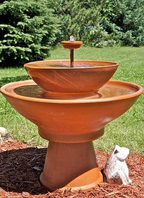 Terra Cotta Tippy Water Fountain