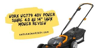Worx Wg779 40V Power Share 4.0 Ah 14 Lawn MowerReview