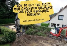 How to Get the Right Mini Excavator Insurance for your Gardening Business