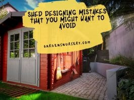 Shed Designing Mistakes That You Might Want to Avoid